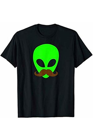 Miftees Alien Mustache Funny UFO with Mustache tee T-Shirt
