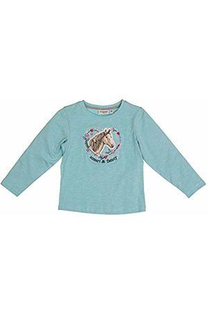 Salt & Pepper Salt and Pepper Girls' Horses Smart Pferdekopf mit Herz Pailletten Longsleeve T - Shirt, Lotus Melange 643
