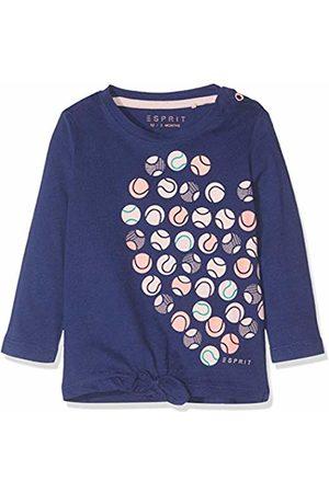 Esprit Kids Baby Girls' Rp1003107 T-Shirt Long Sleeves Top, (Marine 446)