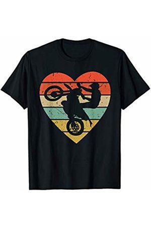 Family Men Women Kids Enduro Team Gifts Idea Enduro Vintage Design Retro Motocross Racer Heart Sport Fan T-Shirt