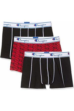 Champion Men's Boxer Coton Mix X3 Shorts, (Rouge Noir 8vs)