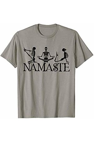 Yoga Skeleton Shirts & Gifts Halloween Yoga Skeleton Meditating Namaste Meditation Gift T-Shirt