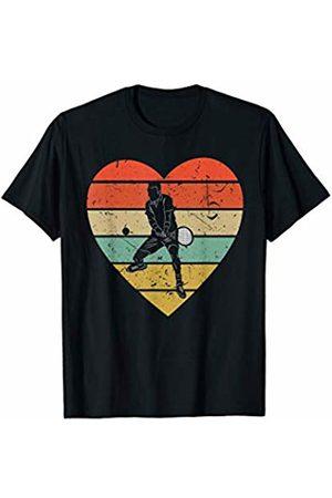 Family Men Women Kids Tennis Team Gifts Idea Tennis Vintage Design | Retro Racket Player Heart Sport Fan T-Shirt