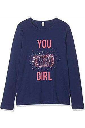 Esprit Kids Girl's Rp1011507 T-Shirt Long Sleeves Top, (Marine 446)