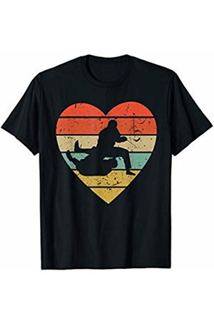 Family Men Women Kids Jiu-Jitsu Team Gifts Idea Jiu Jitsu Gi Vintage Design | Retro BJJ Fighter Heart Sport T-Shirt