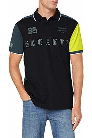Hackett Men's's Aston Martin Racing Polo Shirt (Blk/Multi 9eg) Medium