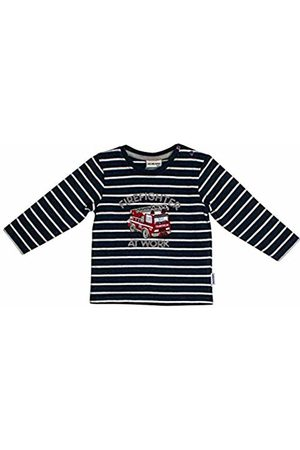 Salt & Pepper Salt and Pepper Baby Boys' Ready for Action Feuerwehr Firefighter Applikation Sweatshirt, Dark Melange 492