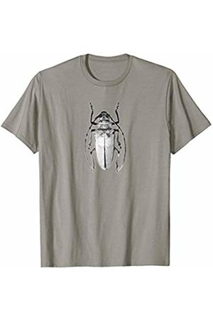 Jimmo Designs Beetle Animal Print Botanical Art Entomology T-Shirt