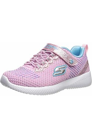 Skechers Girls' BOBS Squad-Glitter Madness Trainers, /Turquoise Glitter & Embroidered Sneaker Pktq