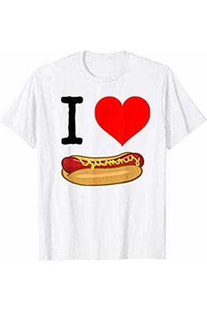 Miftees I Love Hot Dog funny hot dog lover T-Shirt