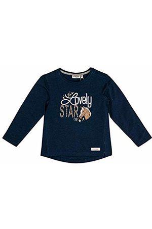 Salt & Pepper Salt and Pepper Girls' Horses Lovely Star Applikation Longsleeve T-Shirt, (Navy Melange 460)