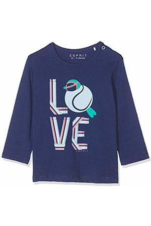 Esprit Baby T-shirts - Kids Baby Girls' Rp1000107 T-Shirt Long Sleeves Top, (Marine 446)