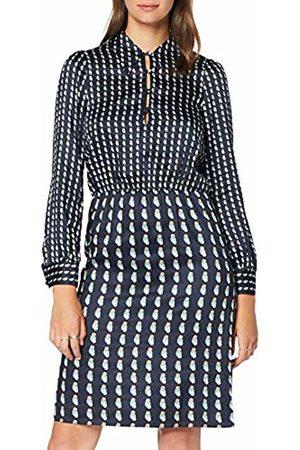 Seidensticker Women's Kleid Langarm Modern Fit Gepunktet-100% Viskose Dress