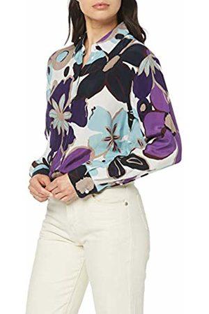 Seidensticker Women's Hemdbluse Langarm Modern fit Blumendruck-100% Cupro Blouse