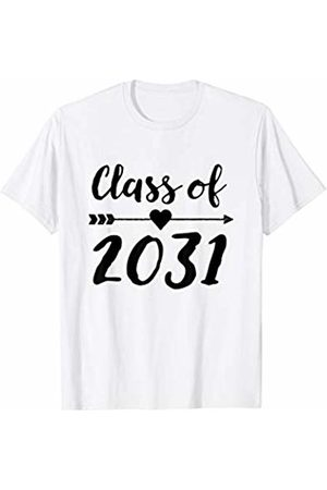 Future Graduation School Tees Class of 2031 Grow with Me Shirt First Day of School