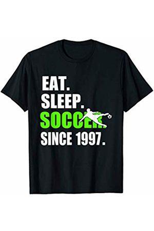 Funky Blinky Soccer Shirt Eat Sleep Soccer Since 1997 T-Shirt 22nd Birthday Gift Shirt