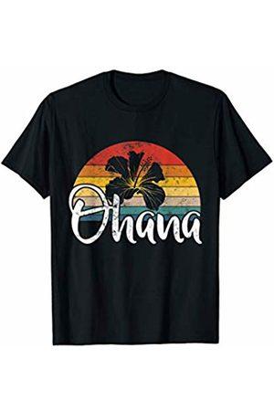 Vintage T-Shirts Co. Ohana Hawaiian Shirt Men Women Hawaii Flower Family Vacation T-Shirt