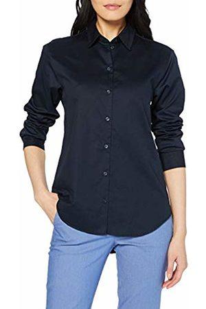 Seidensticker Women's Hemdbluse Langarm Modern fit Twill Uni-100% Baumwolle Blouse