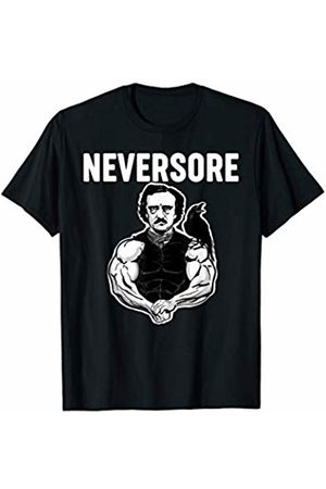 Miftees NeverSore funny Edgar Allan Poe funny weightlifting gym T-Shirt
