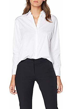 Seidensticker Women Blouses - Women's Hemdbluse Langarm Modern fit Twill Uni-100% Baumwolle Blouse, Optical 1