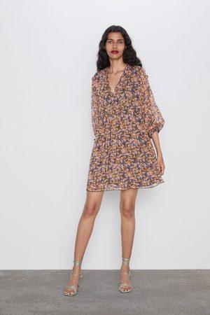 Zara Printed flowing dress
