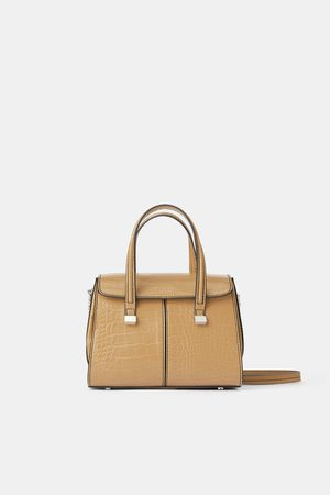 Zara Women Shopper & Tote Bags - Animal print mini tote bag