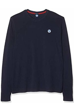 North Sails Men's T Shirt L/s W Logo Kniited Tank Top, Navy 802.0