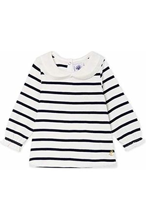 Petit Bateau Baby Girls' Blouse Ml_5051201 (Marshmallow/Smoking 01)