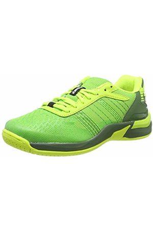 Kempa Unisex Kids' Attack Contender Junior Handball Shoes, Vert Espoir/Jaune Fluo