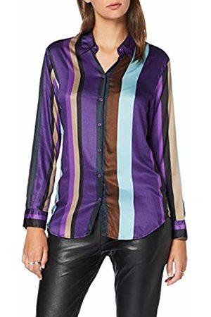 Seidensticker Women's Hemdbluse Langarm Modern fit gemustert-100% Viskose Blouse