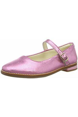 Clarks Girls' Drew Sky K Ankle Strap Ballet Flats, Sparkle Lea