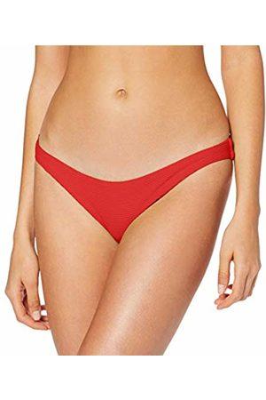 Seafolly Women's Essentials High Cut Bikini Bottoms, Chilli