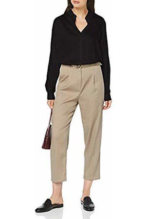 Seidensticker Women's Hemdbluse Langarm Modern fit Satin uni-100% Viskose Blouse