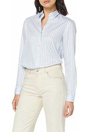 Seidensticker Women's Hemdbluse Langarm Modern fit schmale Streifen-100% Baumwolle Blouse