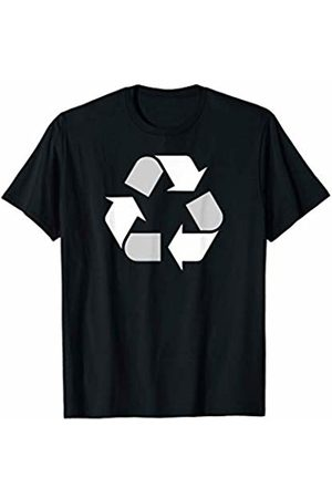 Miftees White Recycle Symbol novelty Earth Day Recycling T-Shirt