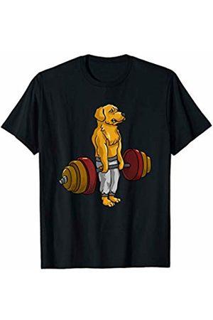 Golden Retriever Deadlift - Bodybuilding Gifts Golden Retriever Deadlift - Fitness Bodybuilder Goldie Dog T-Shirt