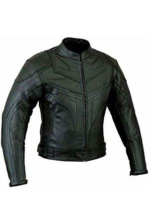 SPEED MAXX LTD Batman Style Smart Fit Motorcycle Leather Jacket (L)