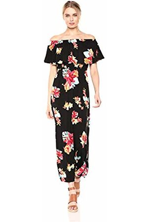 28 Palms Women Casual Dresses - Tropical Hawaiian Print Off Shoulder Maxi Dress Casual