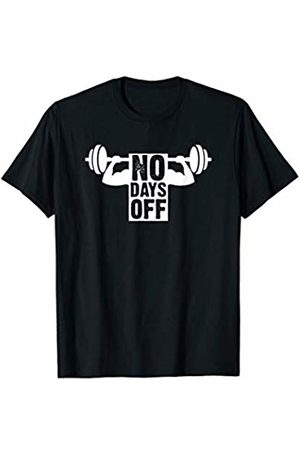 Funny Fitness Bodybuilders Gift Tees Distressed Bodybuilding No Days Off Gym Workout T-Shirt