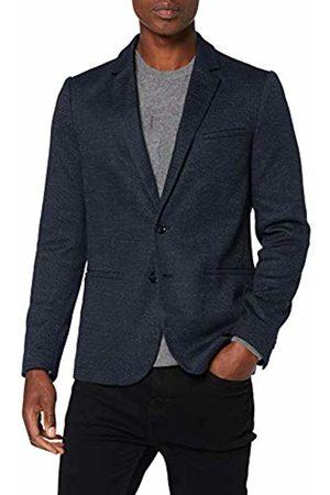 Trussardi Jeans Men's Jacket Slim Fit Jersey Micro F Coat, Navy U290