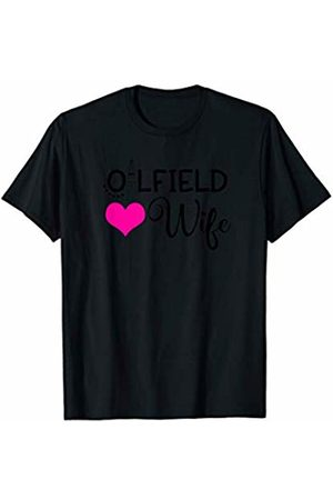 HustlaGirl Oilfield Wife Shirt Oil Rig Heart Oilfied T-Shirt