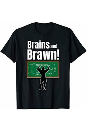 Workout SpecialTee Co. Mens Brains and Brawn Workout Smart Sexy Guys Mens Gym Gift T-Shirt