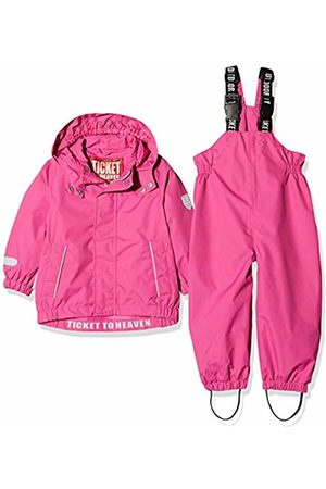 Ticket to Heaven Baby Regenanzug 2tlg. Plain M. Abnehmbarer Kapuze Snowsuit, (Raspberry Rose|