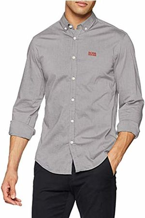 HUGO BOSS Men's Biado_r Casual Shirt, (Dark )