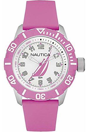 Nautica Mens Analogue Quartz Watch with Rubber Strap NAI08514G