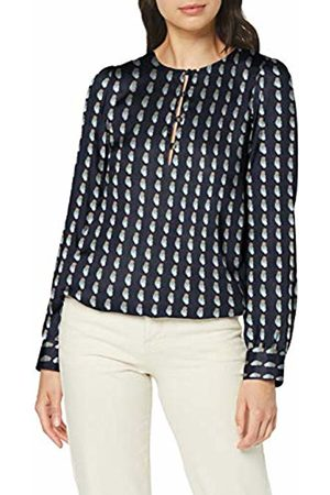 Seidensticker Women's Shirtbluse Langarm Modern fit Satin Blumendruck-100% Viskose Blouse