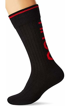 HUGO BOSS Men Socks - Men's Bs Rib Logo Cc Calf Socks, ( 001)