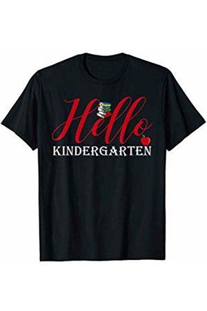 Hadley Designs Women T-shirts - Hello Kindergarten Back to School for Teachers First Day of T-Shirt
