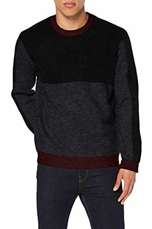 FIND PHRL3232 Mens Jumpers, ( /Charcoal Marl/Fired Brick)