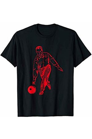Ampersand & Co. Let's Go Bowling Retro Classic Sport Gift Red Bowler T-Shirt
